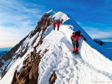 panorama - szczyt zdobyty pora bezpiecznie wracać