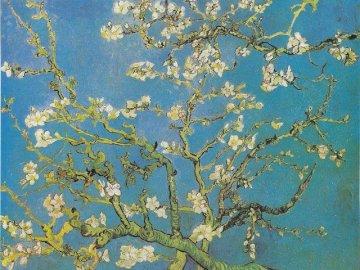 """""""Blooming Almond"""" de Vincent Van Gogh - Les puzzles montrent une reproduction d'une des œuvres du célèbre peintre Vincent Van Gogh"""