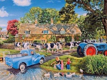 A la campagne  - Landscape puzzle.