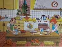 kök - pussel med kökbilder