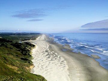 Wydmy wzdłuż Oceanu Spokojnego - Cuda natury, Ocean Spokojny, puzzle krajobrazy