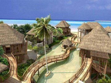 Maldives - View of the Maldives resort