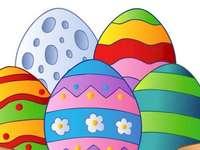 Ovo de Páscoa - Faça um ovo de Páscoa do quebra-cabeça