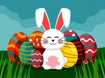 Conejito de pascua - Conejito de pascua, huevos de pascua, vacaciones