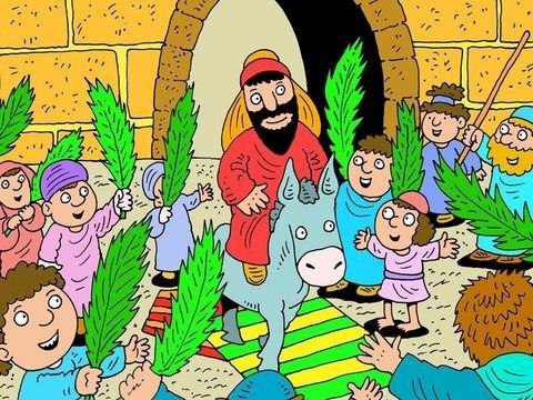 Palmzondag - Palmzondag. Jezus komt Jeruzalem binnen (4×4)