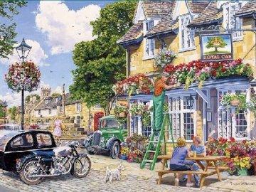 A beautiful English countryside. - A beautiful English countryside