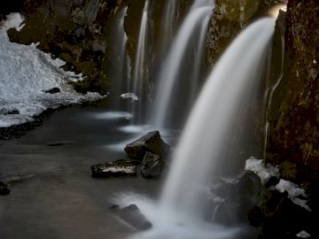 Kirkjufelsfoss, Snaefellsnes - Close-up photography of waterfalls during daytime. Devin, Bratislava, Slovak Republic, EU