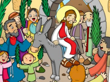 PALM SUNDAY - PUZZLE FOR FIRST-YEAR-OLD CHILDREN