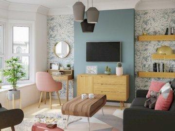 Interior en colores pastel - Salon en colores pastel