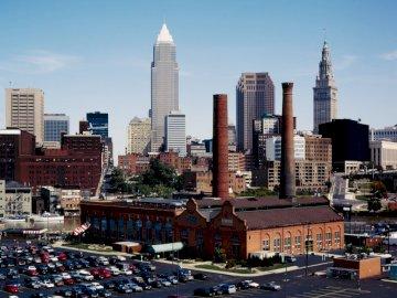 Barrio en Cleveland, Ohio - Estados Unidos - Barrio en Cleveland, Ohio - Estados Unidos. Flats es un distrito reconstruido ubicado a orillas del