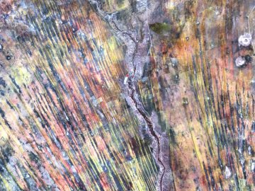 On the edge of the Kalahari - Multicolored abstract painting. United States
