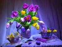Tulipas, Vasos - Buquê de tulipas, vasos