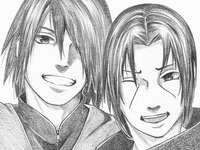 Itachi and Sasuke - Very beautiful drawing of the two brothers