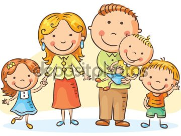 The family - Group of people made up of father, mother and children
