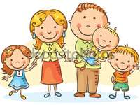 The family - The family. Group of people made up of father, mother and children. Group of people made up of a fat