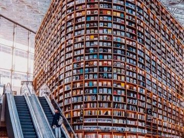 Library. - Jigsaw puzzle. Library.