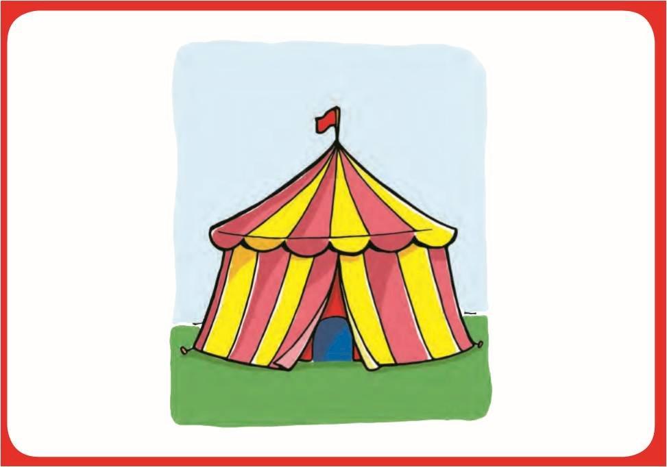 Ein Zirkus - ILLUSTRATION ALS EINFÜHRUNG IN DIE GESCHICHTE (4×4)