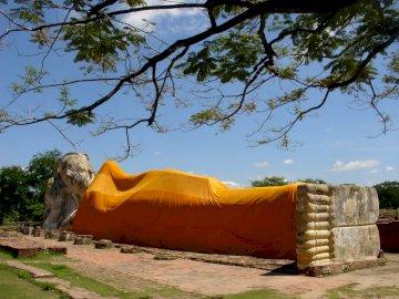 Bouddha couché à ayutthaya - Bouddha couché à ayutthaya