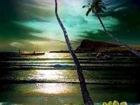 Hawaii at night - Hawaii in the moonlight