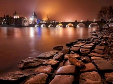 Prague by night - Prague by Night, Czech Business Card