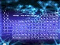 Tabla periódica azul