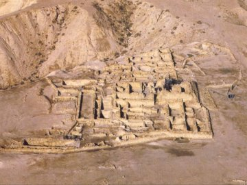 caves of Qumran - Qumran seen from above