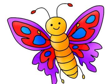 Farfalla di primavera - Disporre i puzzle. Crea una straordinaria illustrazione di elementi