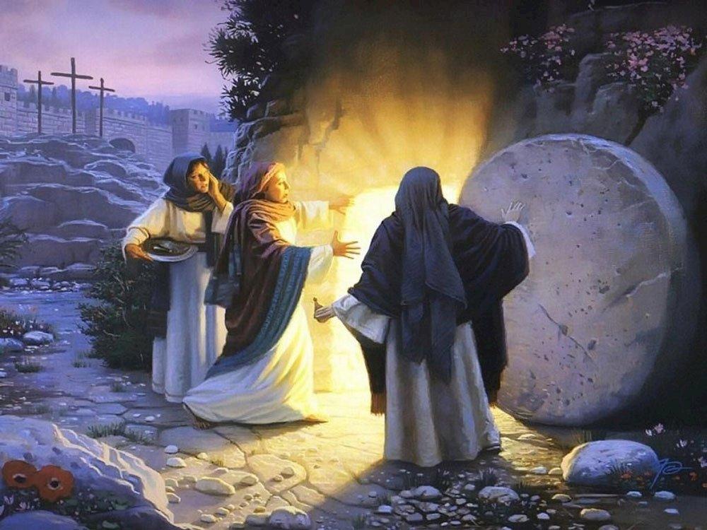 Femei la mormântul gol - Femeile vin la mormântul lui Isus (6×6)