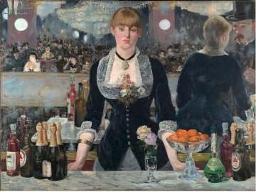 folier's bar - this painting shows monet's interest in bars and cabarets