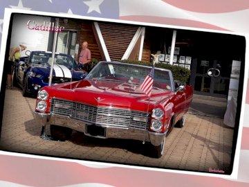 Barbichette - Magnifique Cadillac rouge