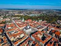 Kalisz - Hôtel de ville et vieille ville - Kalisz, situation ville, vue