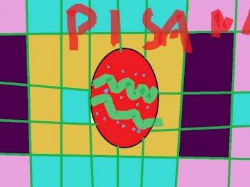 uovo scritto - è un uovo di Pasqua fatto in vernice