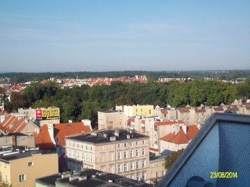 panorama - view of the city buildings
