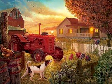 Amerykańska wieś. - Układanka krajobrazowa.