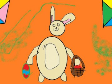 Easter rabbit - this is my job in paint, you can also do that