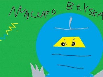 jay from ninjago - is a portrait of paint characters from lego ninjago jay and his nunczako