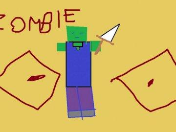 vernice zombi - è il lavoro con la vernice è il quarto nel mio puzzle, fai clic su Kacper e li vedrai