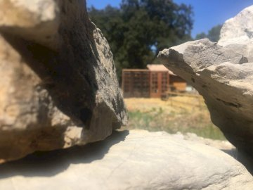 Rompecabezas de huerta - Este rompecabezas está hecho para una búsqueda del tesoro familiar y representa un lugar en el jar