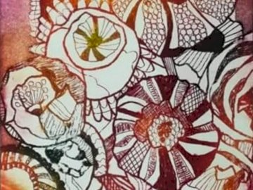 Fleurs Pavots - Une œuvre d'Apolline