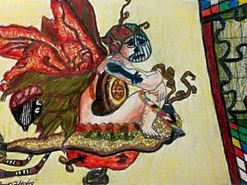 Elfe mit Sohn Schnecke - Une œuvre d'Apolline