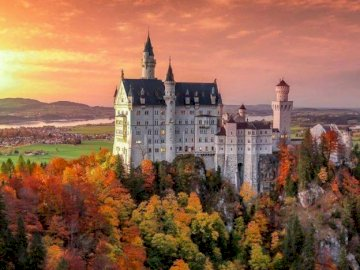 Neuschwanstein Castle - View of Neuschwanstein Castle