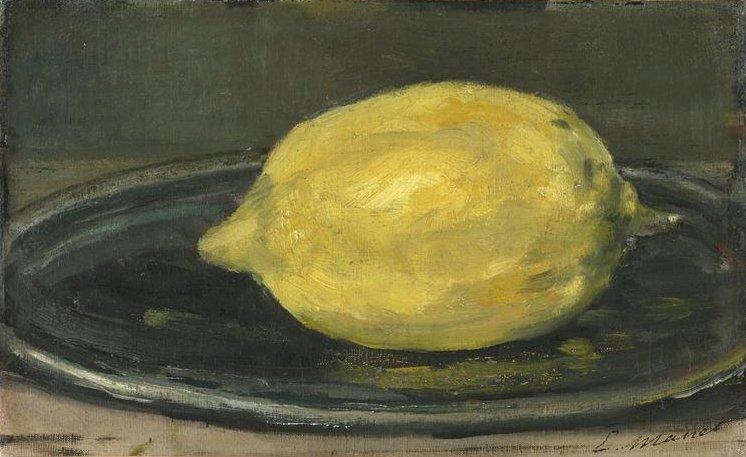 citrón - Je to citron malovaný Manetem (7×7)