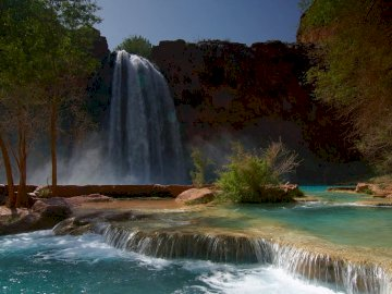 Waterfall. - Landscape puzzle.