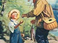 dnes s dědou na rybách