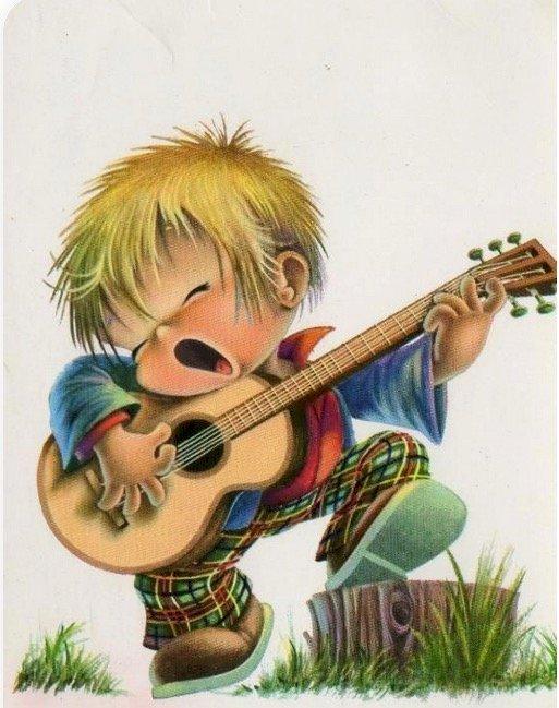 malý kytarista to pěkně rozjel