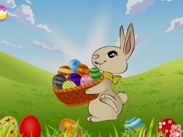 EASTER BUNNY - WE PLAY WITH PUZZLES AT HOME.