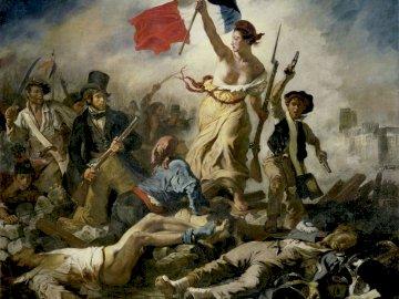 La Liberté morcelée - La Liberté guidant le peuple par Eugène Delacroix: recomposez le tableau !