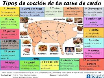 Tipos de pedaços de carne de porco para cozinhar - O quebra-cabeça a seguir é composto de cortes de porco e tipos de cozimento, entre os quais: BOND