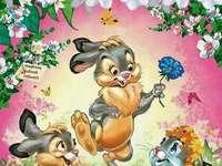 Velikonoční zajíčky.