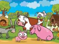 animaux ruraux - Puzzles pour les jeunes enfants